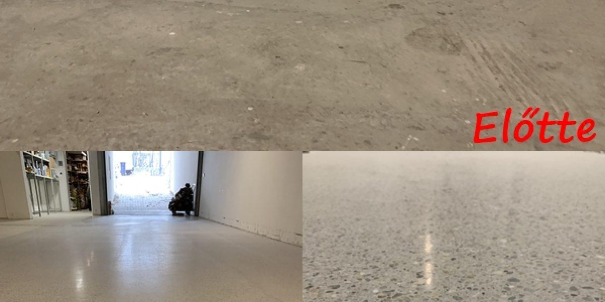 Mélygarázs betoncsiszolása